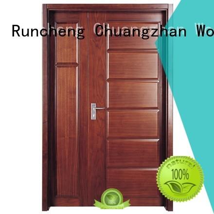 Quality Runcheng Woodworking Brand interior double doors veneer interior