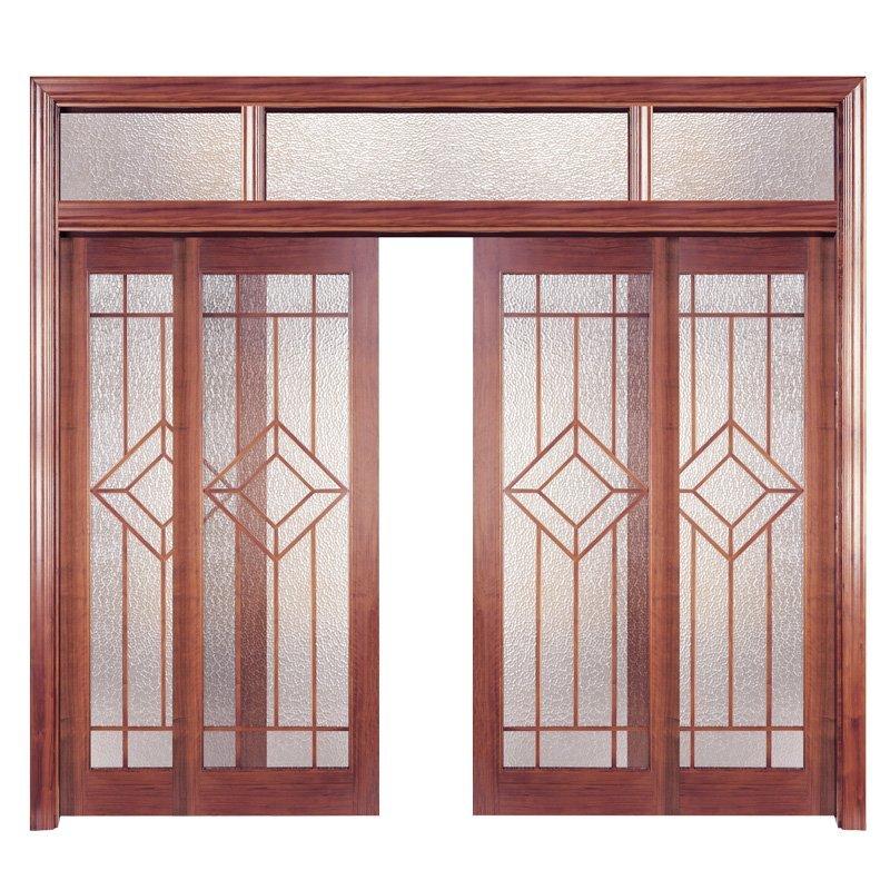 PP001-4 Interior veneer composited modern design wooden door