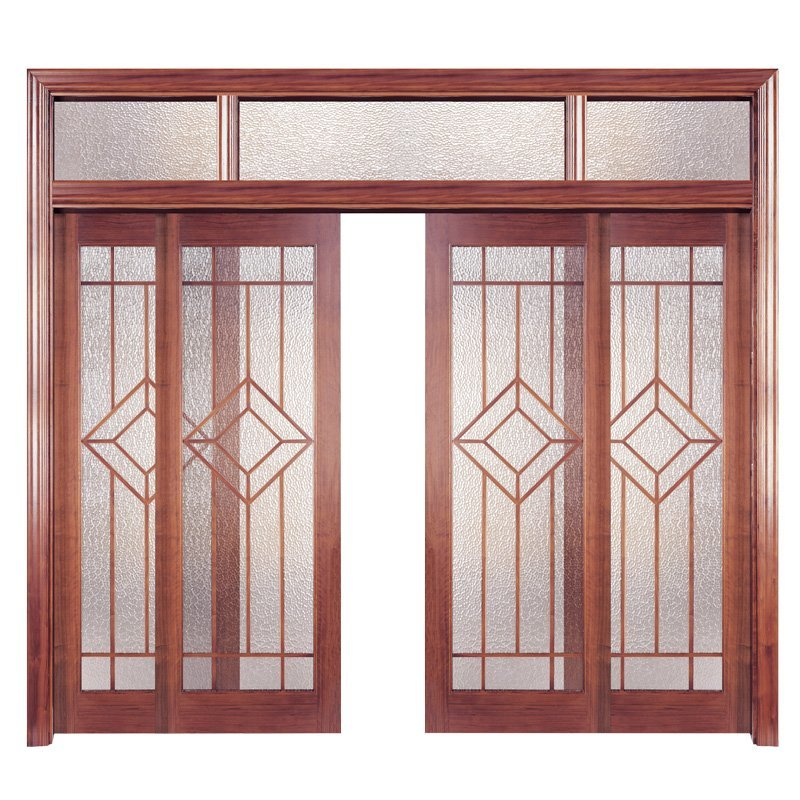 PP001-4 Interior veneer composited modern design wooden door