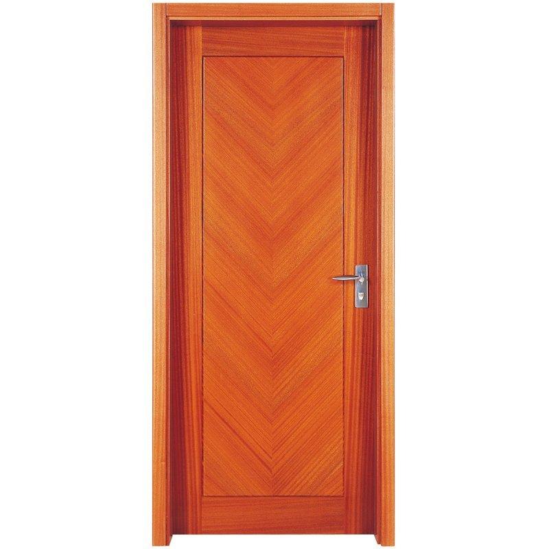 PP009 Interior veneer composited modern design wooden door