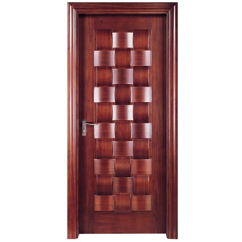 X010 Interior veneer composited modern design wooden door