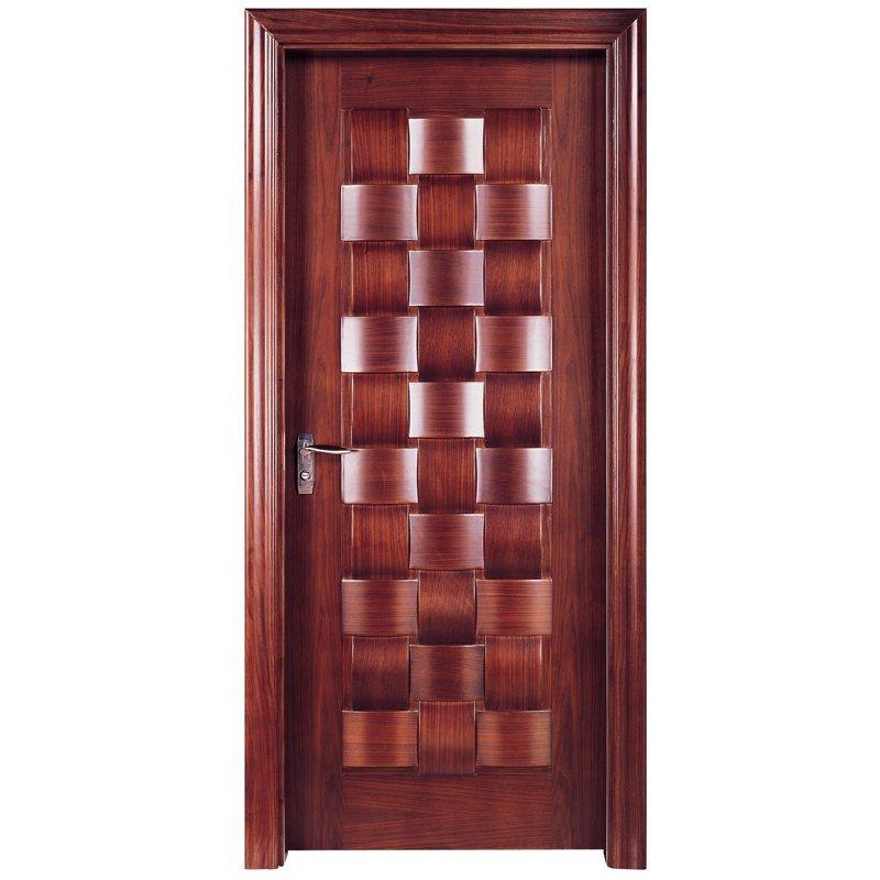 X010 Interior veneer composited modern design wooden door