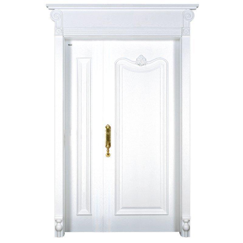 X037-1 double  Interior veneer composited modern design wooden door