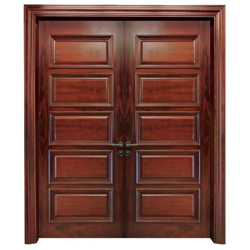 X053 double Interior veneer composited modern design wooden door