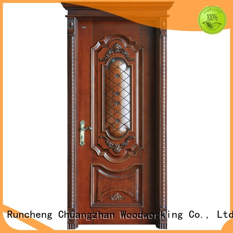 Runcheng Woodworking Brand s040 x010 wooden solid wood bedroom composite door