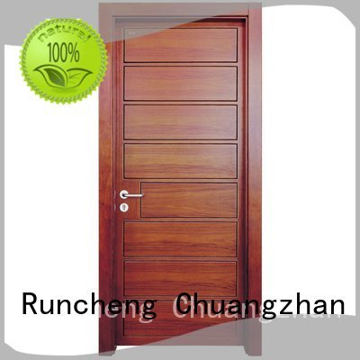 solid wood bedroom composite door gk002 veneer OEM solid wood composite doors Runcheng Woodworking
