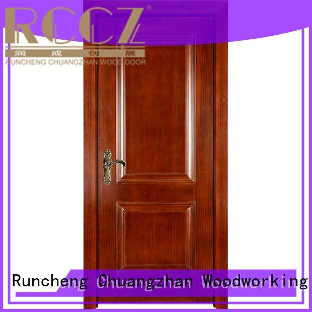 Runcheng Woodworking Brand veneer x036 solid wood bedroom composite door x052 pp007t