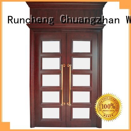 white double doors veneer interior interior double doors Runcheng Woodworking Warranty