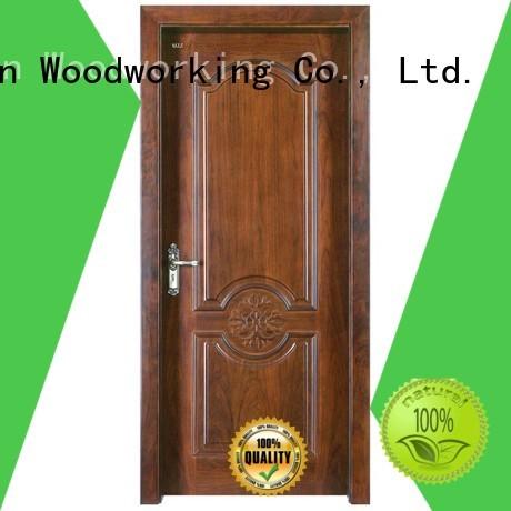 modern design wooden Runcheng Woodworking Brand solid wood composite doors