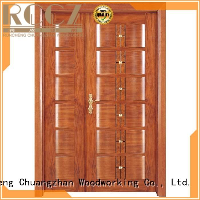 door design OEM interior double doors Runcheng Woodworking