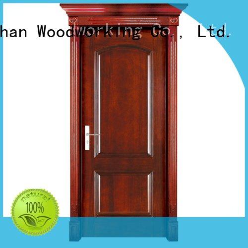 wooden solid solid wood bifold doors pure Runcheng Woodworking