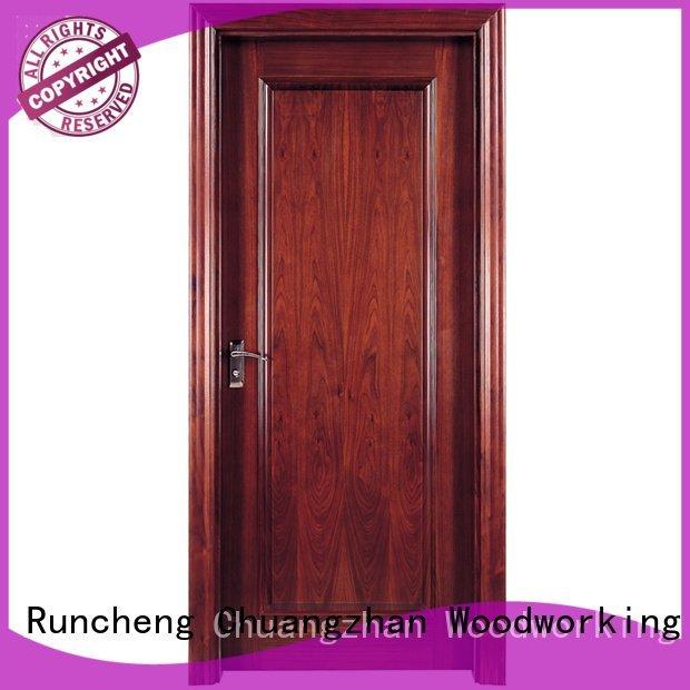 Wholesale pure pp016 solid wood composite doors Runcheng Woodworking Brand