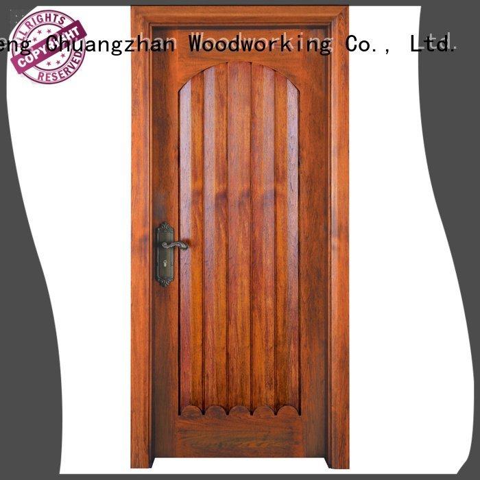 Runcheng Woodworking wooden interior solid wood bifold doors door solid
