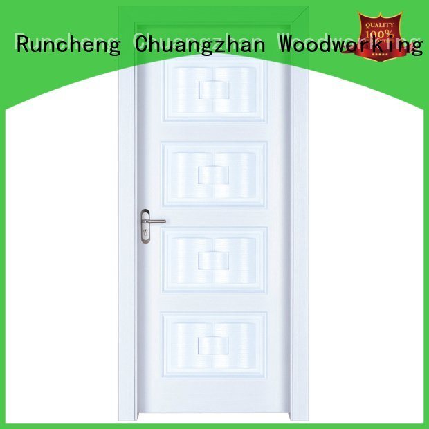 Hot solid wood bedroom composite door design composited modern Runcheng Woodworking Brand