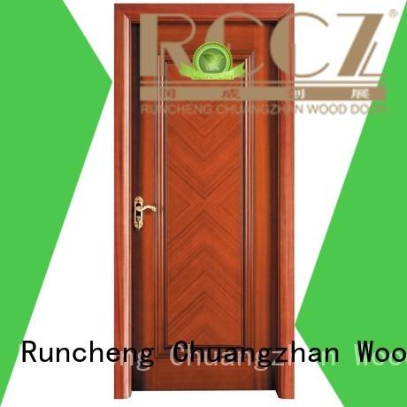 Wholesale modern design wooden kitchen cabinet doors veneer Runcheng Woodworking Brand