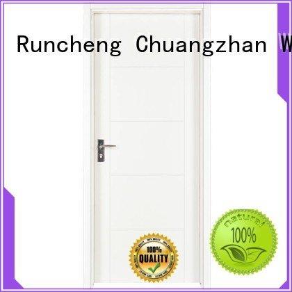 composited internal white mdf composited wooden door Runcheng Woodworking Brand