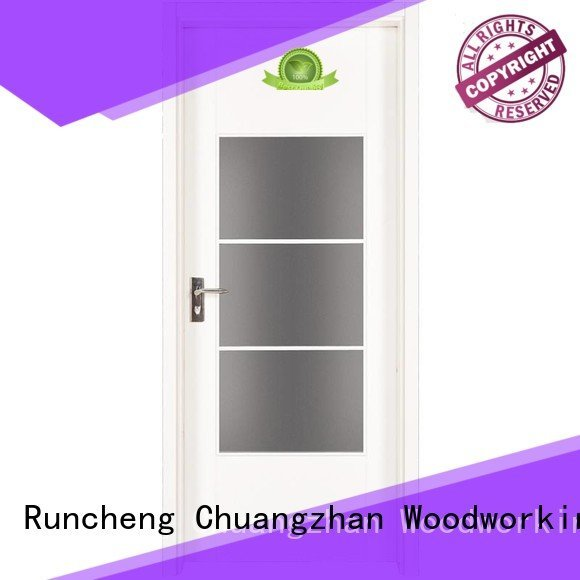 Runcheng Woodworking mdf white mdf interior doors