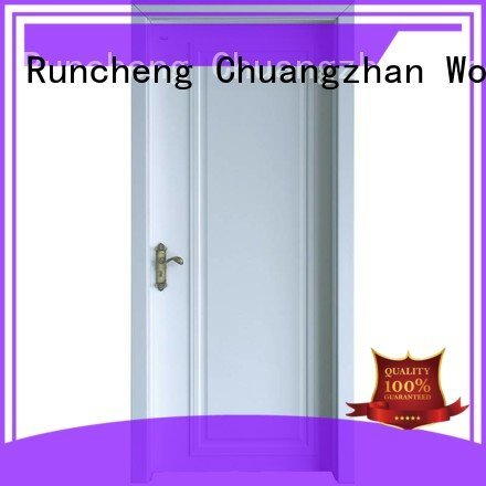 internal white mdf composited wooden door pp028 white x024 Runcheng Woodworking