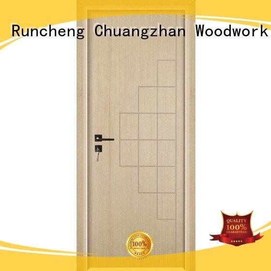 internal internal white mdf composited wooden door Runcheng Woodworking Brand