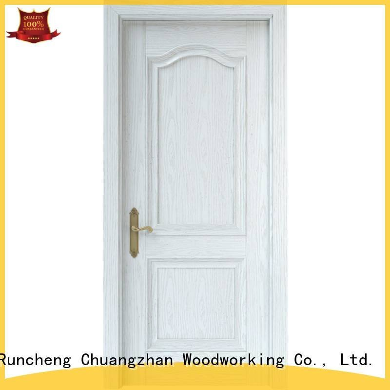 internal white mdf composited wooden door pp003 Runcheng Woodworking Brand mdf interior doors