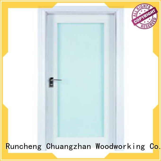 x0194 x0283 door wooden double glazed doors Runcheng Woodworking