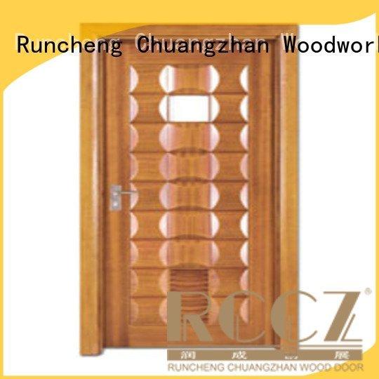 composite interior doors x0152 solid wood bathroom doors x0252 Runcheng Woodworking