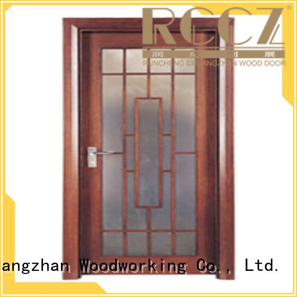 glazed door door Runcheng Woodworking wooden double glazed doors