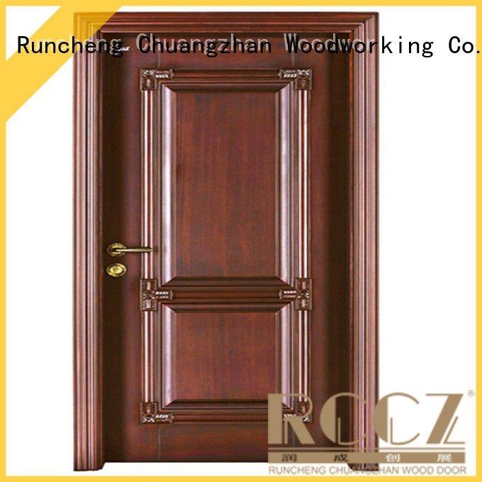 Runcheng Woodworking cheap wooden front doors pp035 s020 pp026 sf005