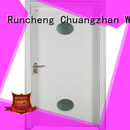 Runcheng Woodworking Brand pure wooden glazed front doors s0073 wood