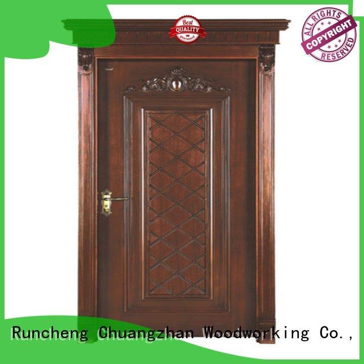 Custom wooden door interior wooden door with solid wood