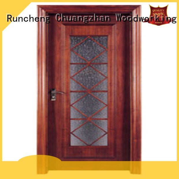 x0283 x0143 door wooden double glazed doors Runcheng Woodworking