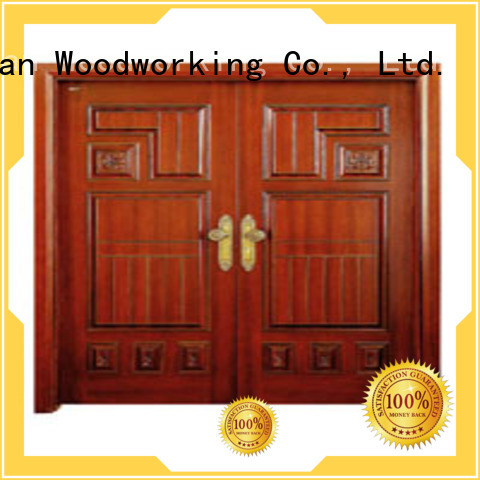 Custom double interior double doors door Runcheng Woodworking