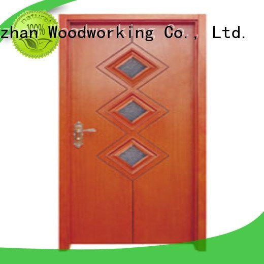 Runcheng Woodworking Brand door glazed glazed wooden glazed front doors