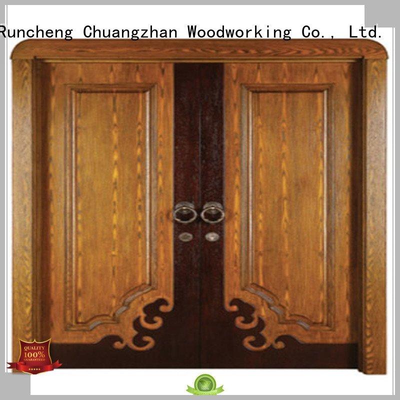 Quality Runcheng Woodworking Brand internal double doors