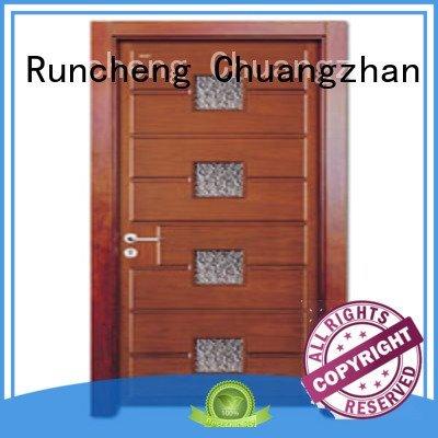 Runcheng Woodworking glazed door door wooden glazed front doors door