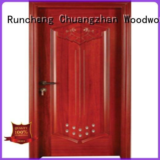 s0092 wooden bathroom door Runcheng Woodworking pvc bathroom wooden door