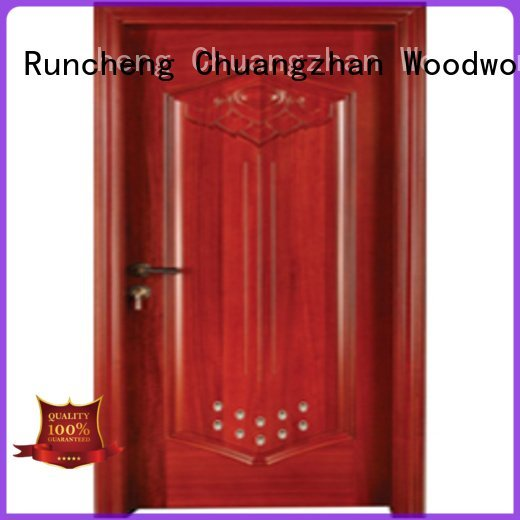 s0092 wooden bathroom door Runcheng Woodworking pvc bathroom wooden door