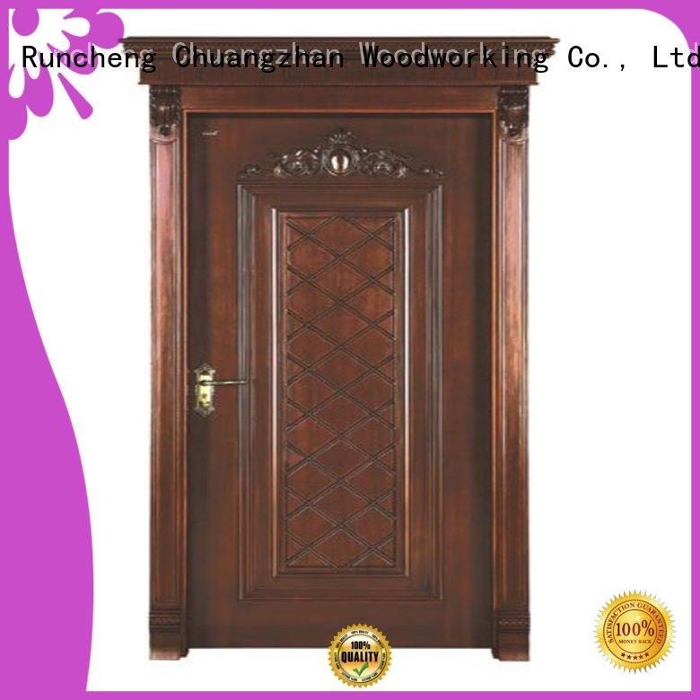 door wooden durable interior wooden door with solid wood Runcheng Woodworking Brand