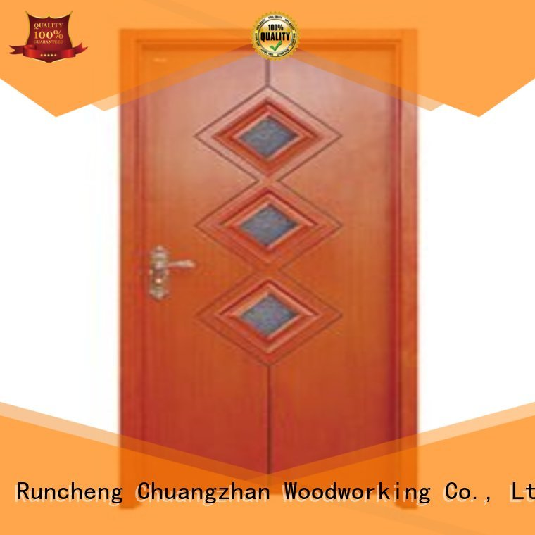 Runcheng Woodworking Brand glazed durable door hardwood glazed internal doors
