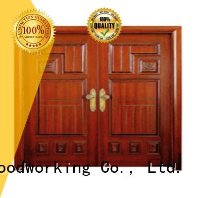Hot white double doors door Runcheng Woodworking Brand