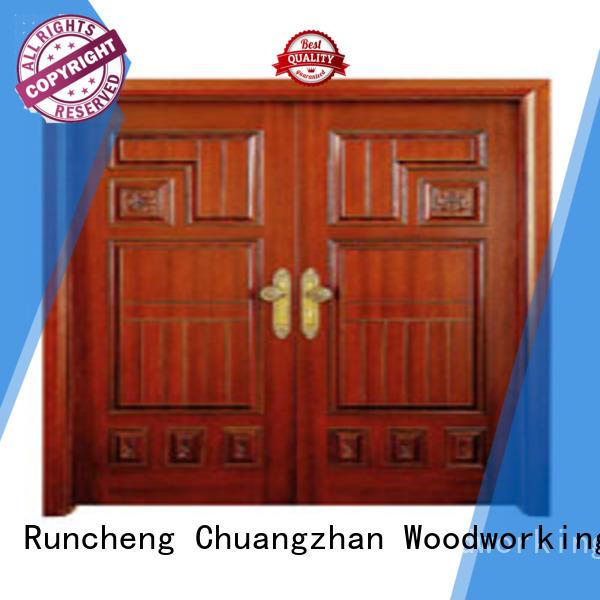 Runcheng Woodworking Brand door double custom white double doors