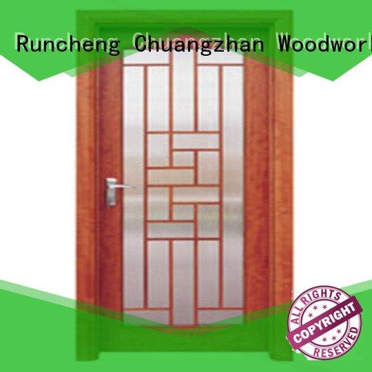 x0163 d0073 Runcheng Woodworking wooden double glazed doors