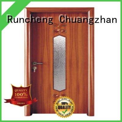 Runcheng Woodworking Brand glazed wooden glazed front doors door door