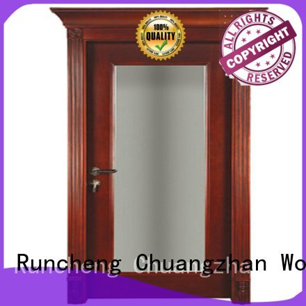 Runcheng Woodworking Brand british door solid wood bedroom composite door
