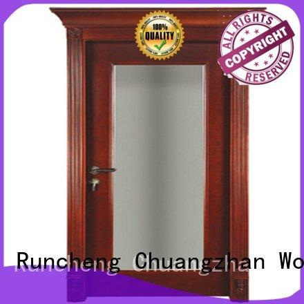 Runcheng Woodworking Brand british door solid wood bedroom composite door