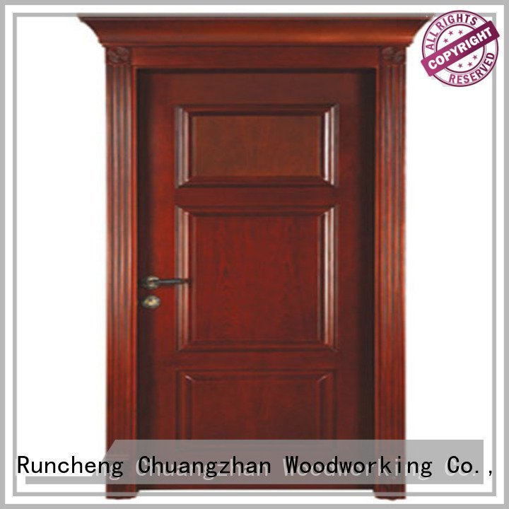 Hot solid wood bedroom composite door classic solid wood compound door kitchen Runcheng Woodworking