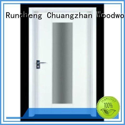 Runcheng Woodworking flush mdf interior wooden door pp005t2 pp007t2 pp012