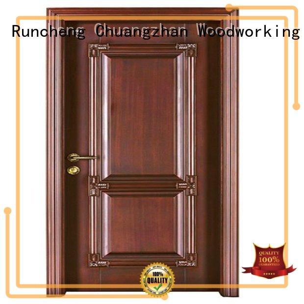Runcheng Woodworking Brand wooden door cheap wooden front doors durable