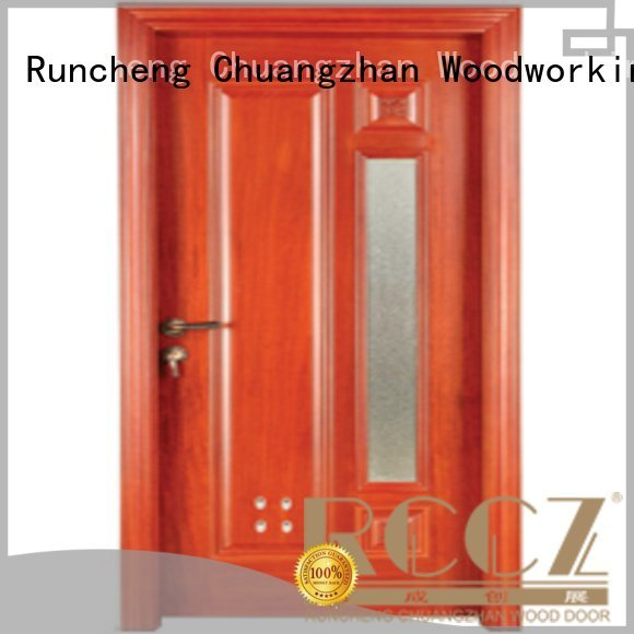 pvc bathroom wooden door door Runcheng Woodworking Brand wooden bathroom door