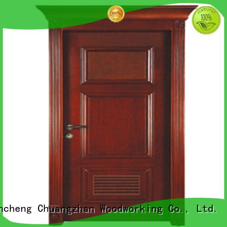 classic Runcheng Woodworking solid wood compound door